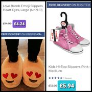 Fashionable Cute Slippers £4.24. + Get FREE DELIVERY on the £5.94 Ones.