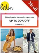 BODEN CLEARANCE - Now up to 70% OFF!