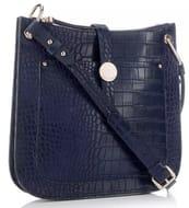 J by Jasper Conran - Navy Croc-Effect Faux Leather 'Iangham' Cross-Body Bag
