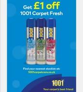 £1 off 1001 Carpet Freshener Coupon