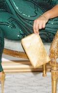 Gold Chainmail Rectangular Clutch
