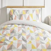 Wilko Textured Triangles Easy Care Single Duvet Set - Save £3!
