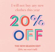 20% off New Clothes. Cure the Blues the Bright Way