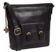 Conkca London - Black 'Robyn' Leather Shoulder Bag