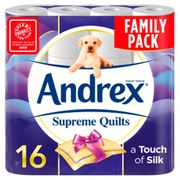 Andrex Supreme Quilts Toilet Tissue 16 Rolls 4 Ply