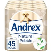 SAVE £6.25 - 45 Andrex Natural Pebble Toilet Rolls - FREE DELIVERY