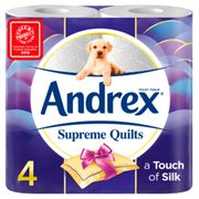 Andrex Supreme Quilts Toilet Tissue 4 Rolls 4 Ply
