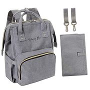 Velocity Bee Nappy Changing Backpack Bag with Changing Mat (Grey)