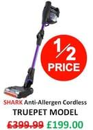 SAVE £200 - Shark Anti-Allergen Cordless Vacuum Cleaner TRUE PET MODEL
