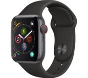 *SAVE £180* APPLE Watch Series 4 Cellular - Space Grey & Black Sports Band 40mm