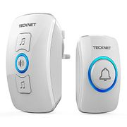 TECKNET Wireless Plug-in Cordless Door Chime at 820-Feet Range with 32 Chimes