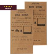 Kraft Wedding Advice Cards 10 Pack Only £1