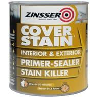 Zinsser Cover Stain Primer Paint White 500ml