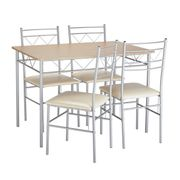Argos Home Oslo Dining Table & 4 Chairs - Oak Effect & Black