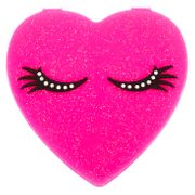 Silicone Heart Compact Mirror - Pink