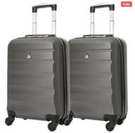2 X Aerolite Hard Shell Cabin Cases £44 Delivered - 13 Colours