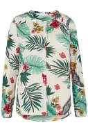 Isla and Rose Tropical Print Tassel Shirt