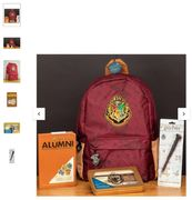 Harry Potter Backpack with Notebook, Stationery Set and Pen