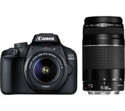 *SAVE £150* CANON EOS 4000D DSLR Camera with EF-S 18-55 Mm & & EF 75-300 Lens