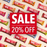 20% off ALL Flavours of Nine Bar
