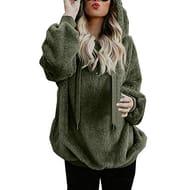 GreatestPAK_ Womens Hooded Drawstring plus Size PLush Sweatshirt 80% Off