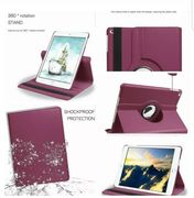 Leather 360 Rotating Smart Case Cover for Apple iPad 2/3/4 Air1/2 Mini 1/2/3 Lot