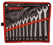 Amtech Drop Forged and Chrome Plated Combination Spanner Set