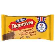 Mcvities Digestive Caramel Slice 5 Pack 124.4G *Better Than Half Price*
