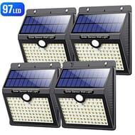 4 * Solar Lights Outdoor,Motion Sensor Solar Security Lights 97 LED's