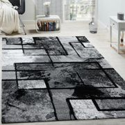 Schwartz Black/Grey Rug
