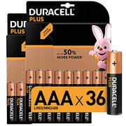 Best Ever Price! Duracell plus AAA Alkaline Batteries Pack of 36