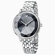 Crystal Lake Watch, Metal Bracelet, Dark Grey, Stainless Steel
