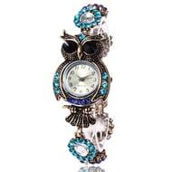 Owl Fashion Womens Quartz Bracelet Brand Watches Gift Wrist Watch