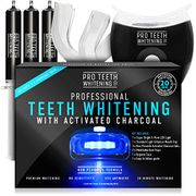 Professional Teeth Whitening Kit with Activated Charcoal - Blue 5-Point LED