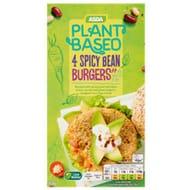 ASDA Plant Based 4 Vegan Spicy Bean Burgers at ASDA Only £1.34