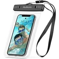 Autkors Waterproof Phone Case, Waterproof Phone Pouch Dry Bag with Lanyard