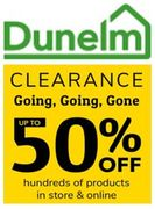 Dunelm CLEARANCE SALE