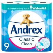 Andrex Toilet Tissue Classic Clean 9 Roll - Save £1.50!