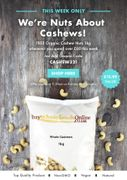 Buy Whole Foods Online - FREE Organic Cashew Nuts 1kg When You Spend £60