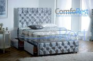 ULTRA MODERN CRUSHED VELVET Memory Sprung DIVAN BED iBEX Plus, MADE in UK