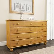 Hamilton 2+3+4 Wide Chest of Drawers in Pine - Save £70!
