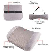 £7 Extra off NO CODE NEEDED Lumbar Support Cushion for Chair Car Seat Pillow