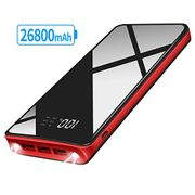 XINSL Power Bank Portable Charger 26800mAh Large Capacity with Led Lights
