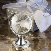 Crystal World Map Glass Globe *Pay Up To £10 UK - Gift Boxed From China £2.59