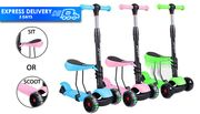 3-in-1 Kids' Balance Scooter - 3 Colours