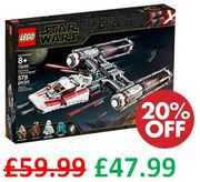 SAVE £12 - LEGO Star Wars - Resistance Y-Wing Starfighter (75249)