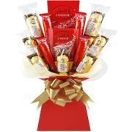 Valentines Ferrero & Lindt Luxury Chocolate Bouquet