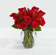12 Red Roses Bouquet for Valentine's Day