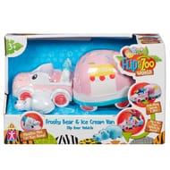 FlipaZoo Vehicle and Figure Set - Frosty Bear and Ice Cream Van