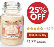 Yankee Candle Large Jar Scented Candle, Vanilla Cupcake *4.5 STARS*